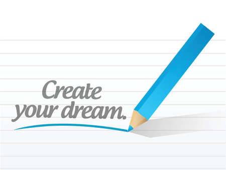 realize: create your dream message illustration design over white Illustration