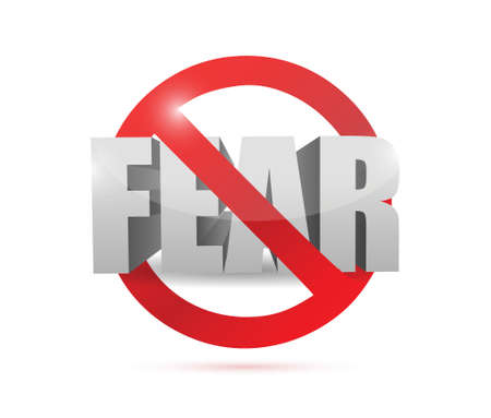 no fear concept sign illustration design  Çizim
