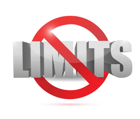no limits sign concept illustration design