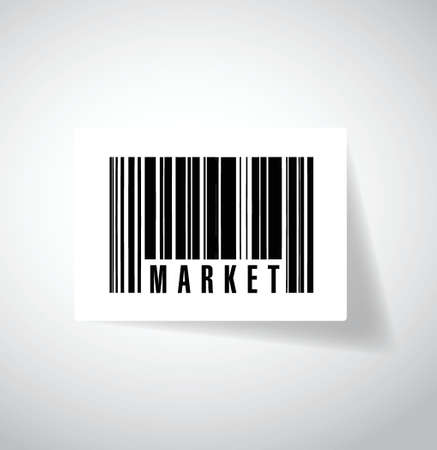 market ups barcode illustration design