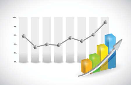 increase diagram: business graph illustration design