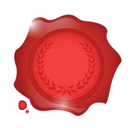 wax seal illustration design  Illusztráció
