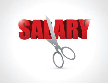 cutting your salary illustration design