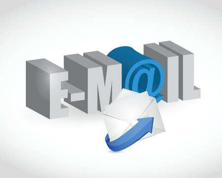 email text envelope illustration design  Vector