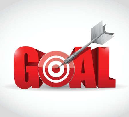 goal and target and dart illustration design   イラスト・ベクター素材