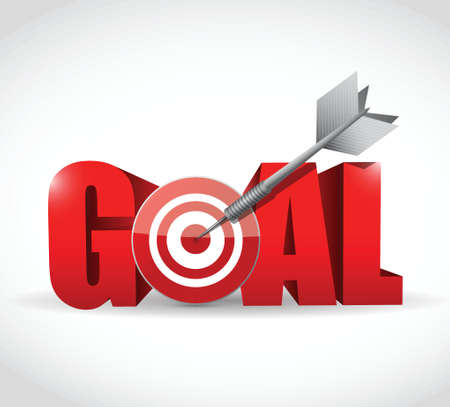 goal and target and dart illustration design  Ilustracja