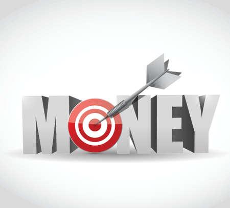 money target dart illustration design Stock Vector - 22444822