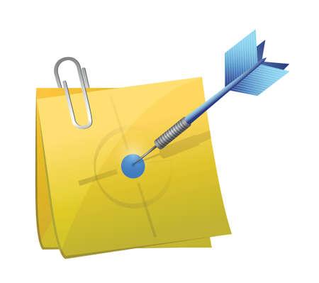 target post and dart illustration design over white 向量圖像