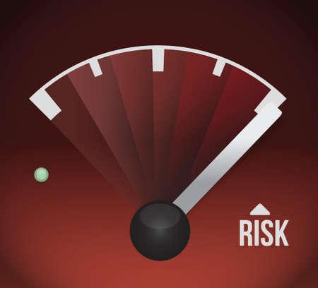 risk speedometer illustration design graphic illustration design