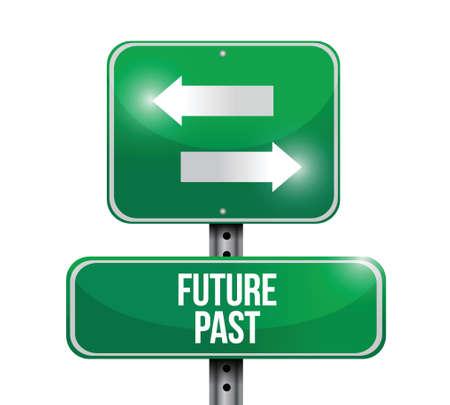 toekomstig verleden verkeersbord illustratie ontwerp