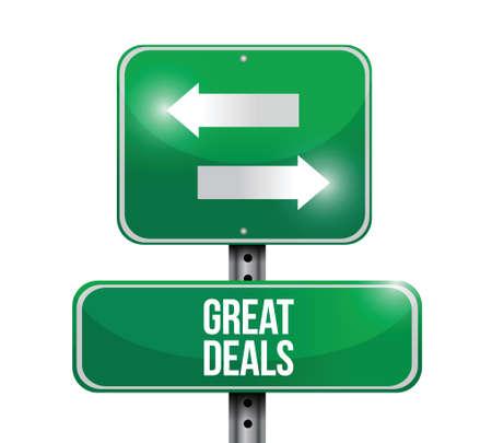 grote deals verkeersbord illustratie ontwerp Stock Illustratie