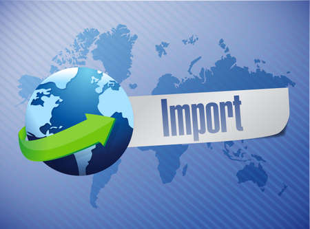 import world map illustration design  illustration