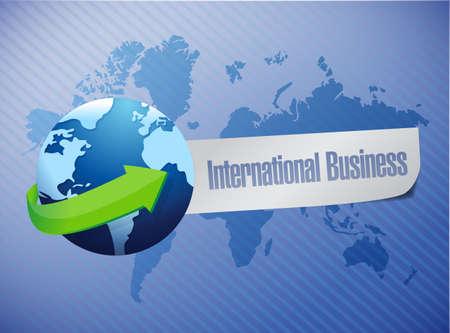 terrena: International Design mondo degli affari illustrazione mappa