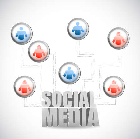 social media icon diagram illustration design Stock Illustration - 22444924
