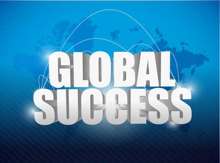 globe success world map concept illustration design  illustration