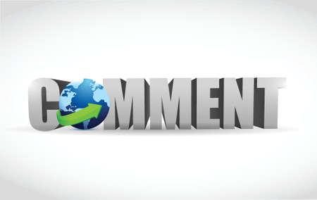 weblog: comment text illustration design over a white background Illustration