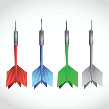 set of colorful darts. illustration design over a white background  イラスト・ベクター素材