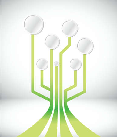 circuit connection network illustration design over white Vector