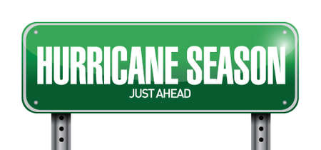 hurricane season just ahead road illustration design over a white background Stock Vector - 22589797