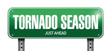 moody sky: tornado stagione appena prima strada design illustrazione su uno sfondo bianco