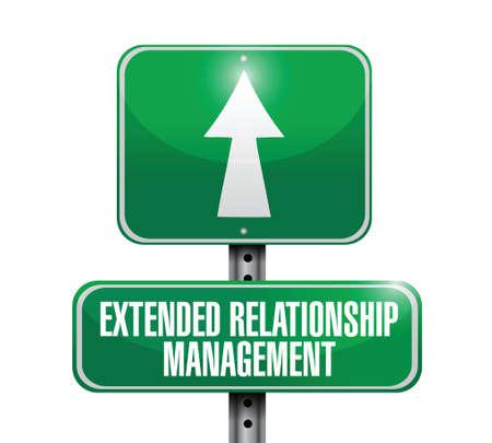 relationship management: extended relationship management road illustration design over a white background Illustration