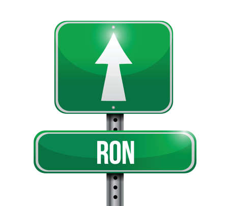 ron currency road illustration design over a white background Vectores