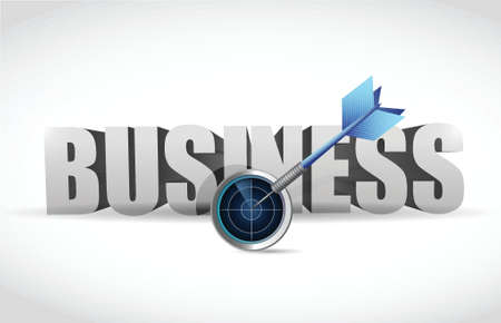 ongoing: target the right business. radar and dart target illustration design