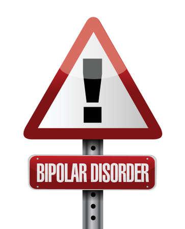 bipolar disorder warning road sign illustration design over white Stock Vector - 22589871