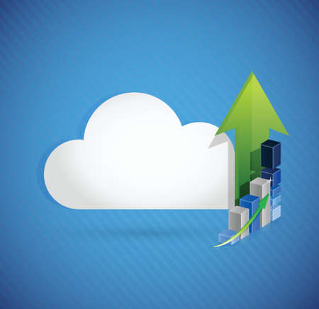 cloud computing business concept illustration design over white Vector