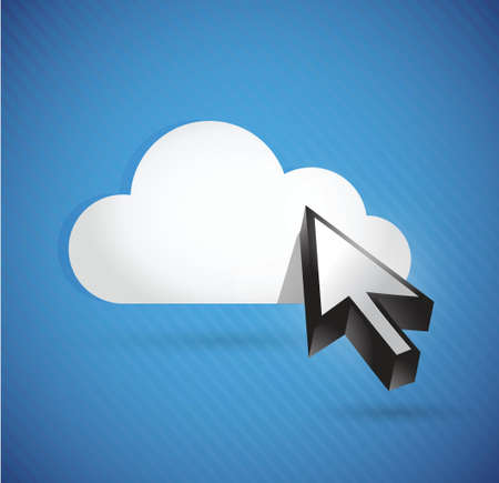 cloud and cursor. connection concept illustration design over white Vector