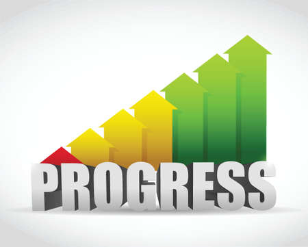 progress business graph illustration design over a white background