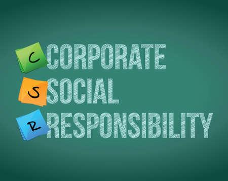 csr: responsabilidad de la gesti�n posterior a la ense�anza del dise�o gr�fico ilustraci�n corporativa Vectores