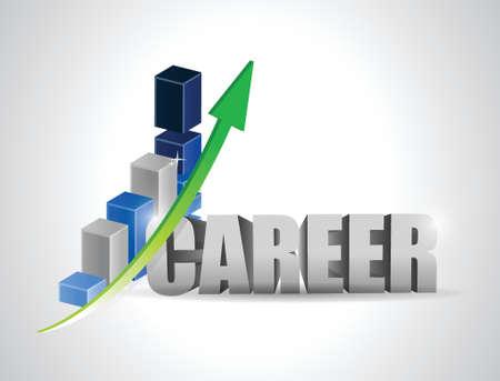 business team: career profits business graph illustration design over white