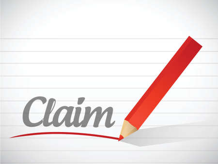 documentation: claim message written over a paper background