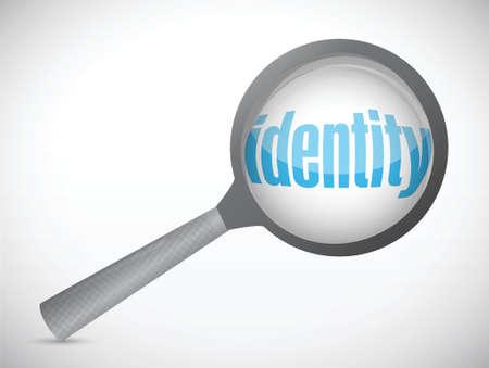 odcisk kciuka: tożsamości na podstawie zapytania. projekt koncepcji ilustracji na białym