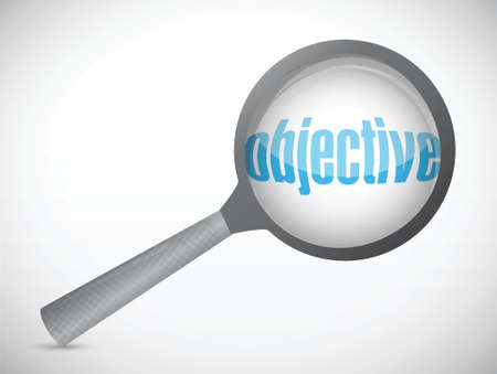 objective under search. concept illustration design over white Vector