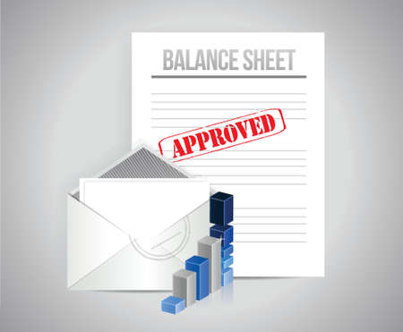 balance sheet approved concept illustration design background