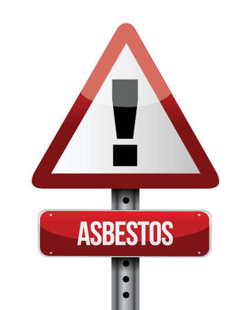 asbestos road sign illustration design over a white background Stock Vector - 22752821