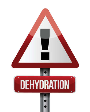 dehydrated: dehydration road sign illustration design over a white background