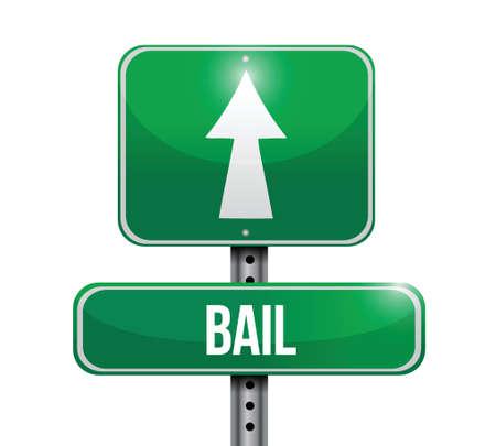 surety: bail cartello stradale design illustrazione su uno sfondo bianco Vettoriali