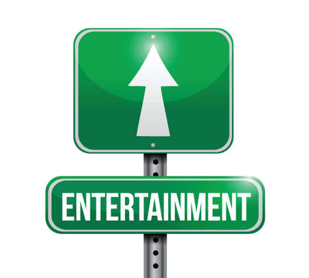 entertainment road sign illustration design over a white background Stock Vector - 22752901