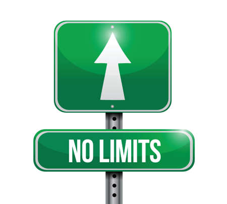 limitations: no limits road sign illustration design over a white background