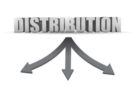 distribution destination illustration design over a white background 向量圖像
