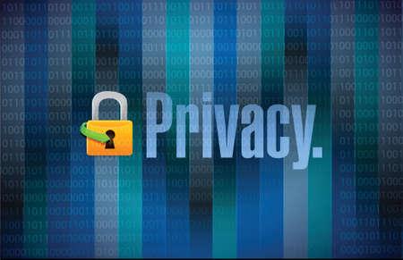 bloqueo y binario privacidad fondo oscuro ilustración, diseño, Ilustración de vector