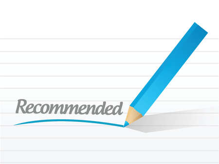 recommended: word recommended written on a white piece of paper