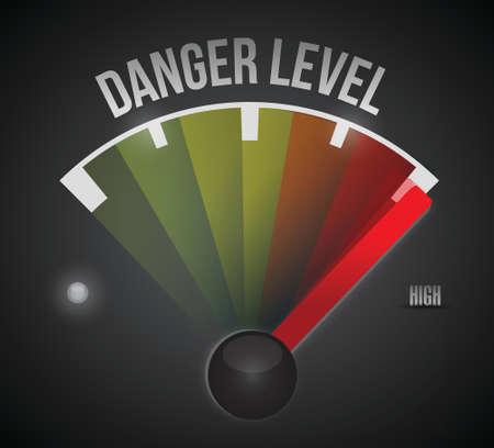 danger level level measure meter from low to high, concept illustration design 向量圖像