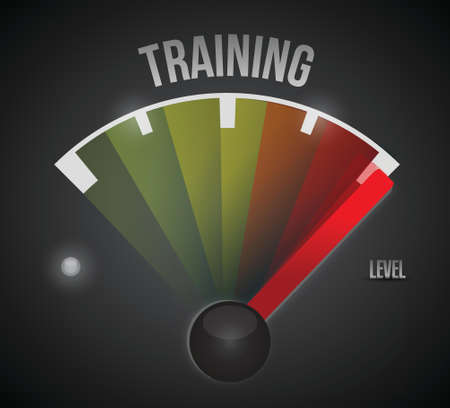 course development: training level measure meter from low to high, concept illustration design Illustration