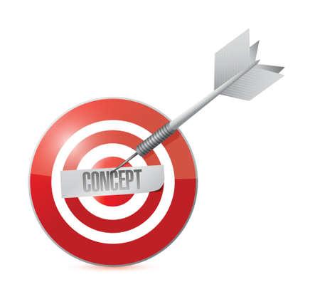 concept target power. illustration design over a white background 版權商用圖片 - 22753247