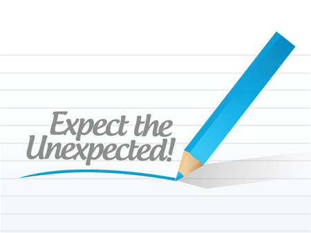 expect the unexpected written message over white Stock Vector - 22860014