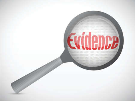 evidence under research illustration design over white